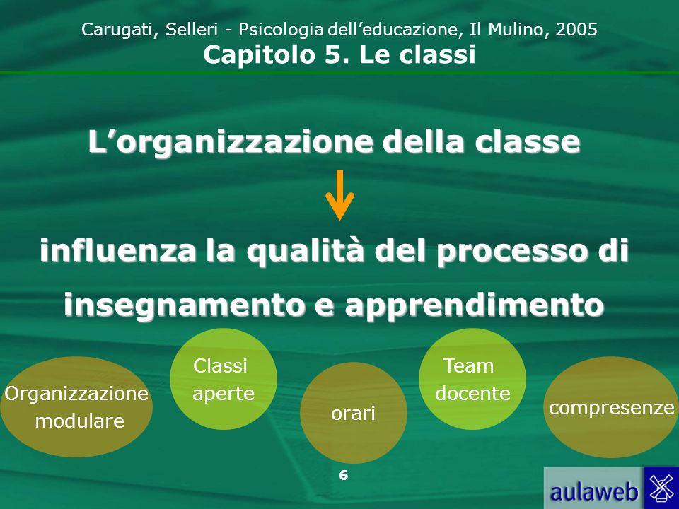 L'organizzazione della classe