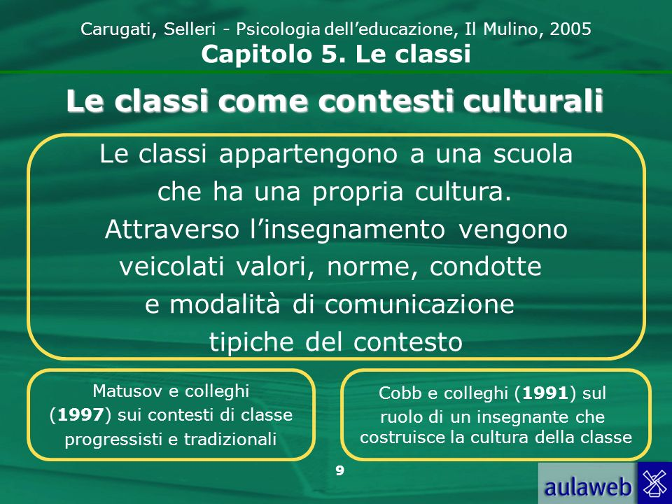 Le classi come contesti culturali