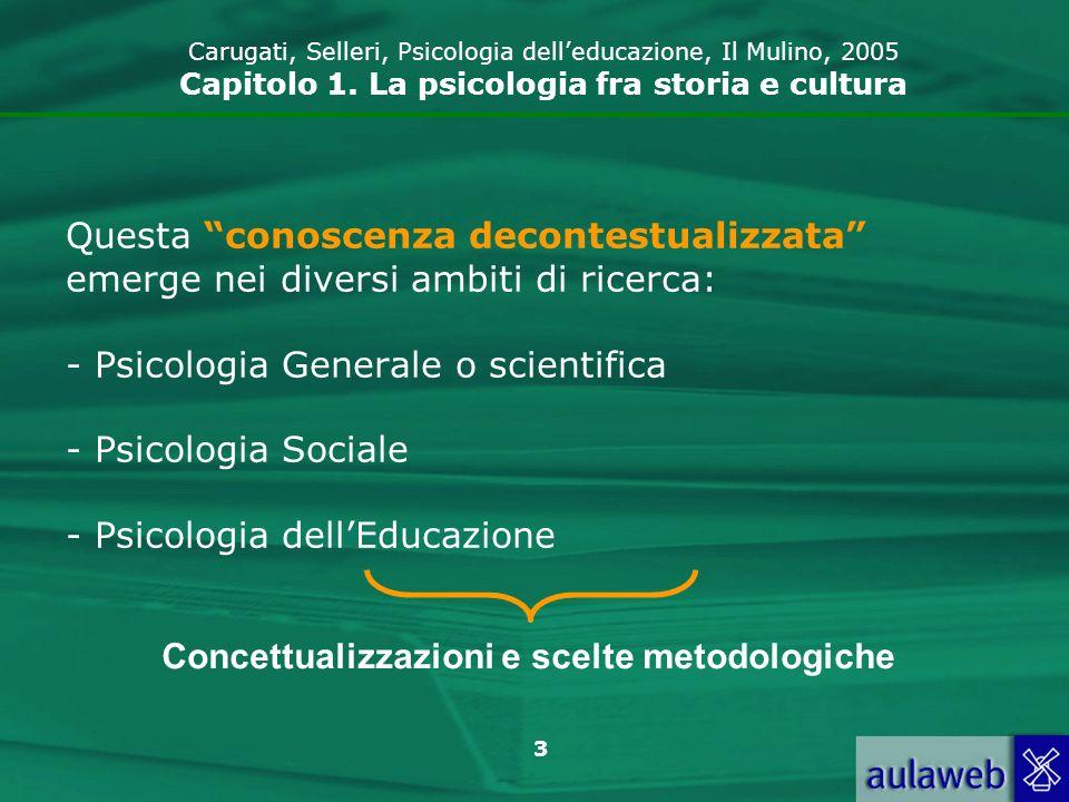 Concettualizzazioni e scelte metodologiche