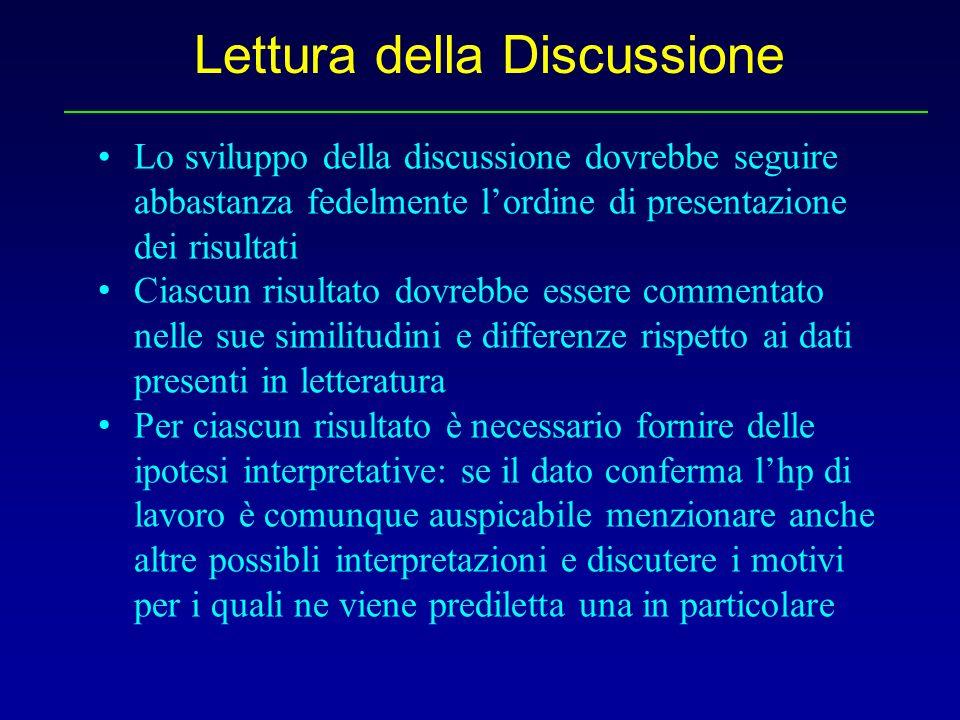 Lettura della Discussione