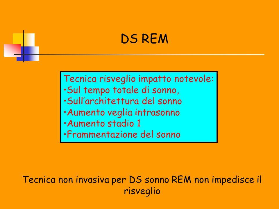 Tecnica non invasiva per DS sonno REM non impedisce il risveglio