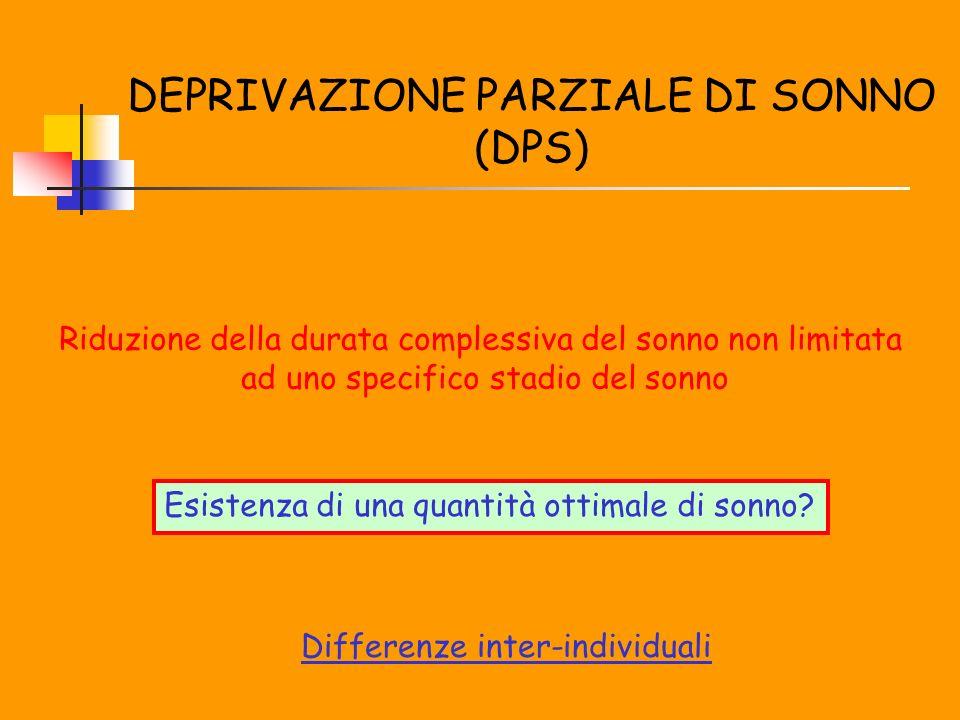 DEPRIVAZIONE PARZIALE DI SONNO (DPS)