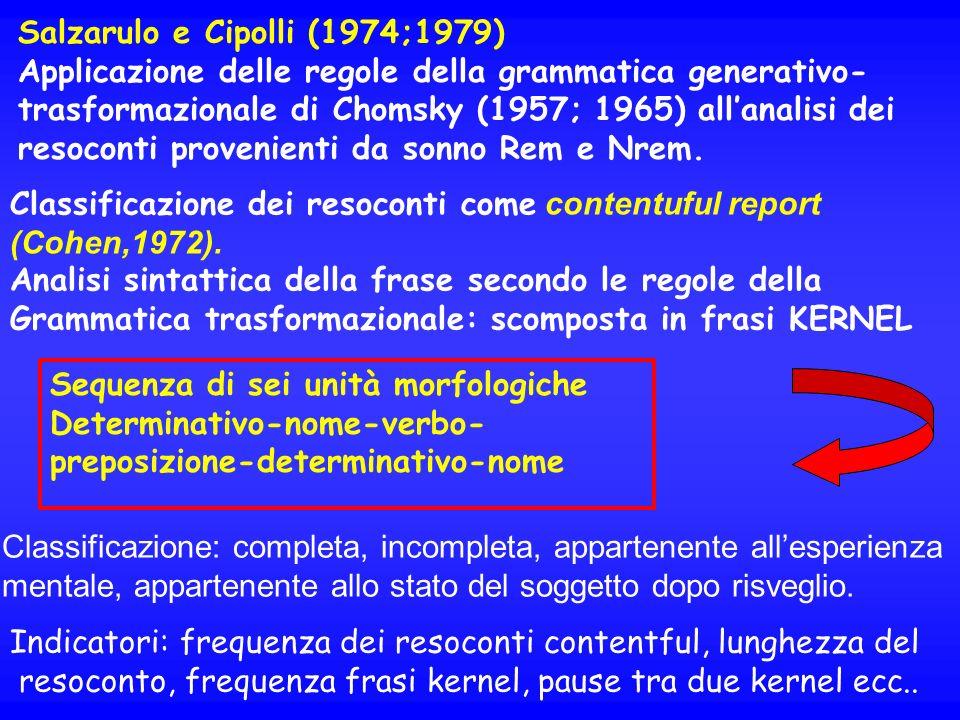 Salzarulo e Cipolli (1974;1979)