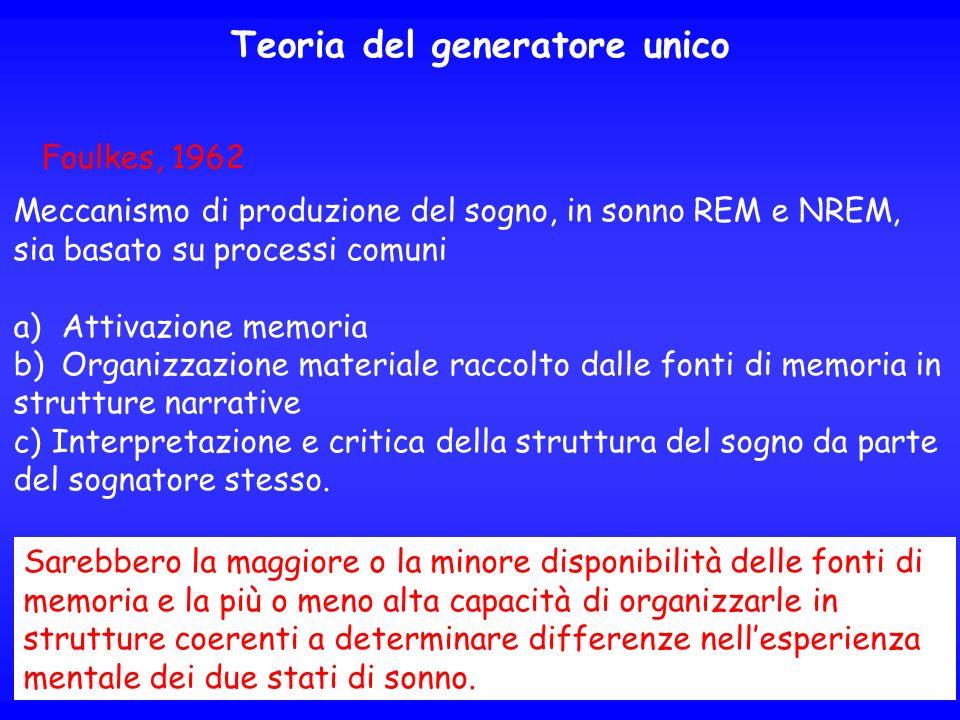 Teoria del generatore unico