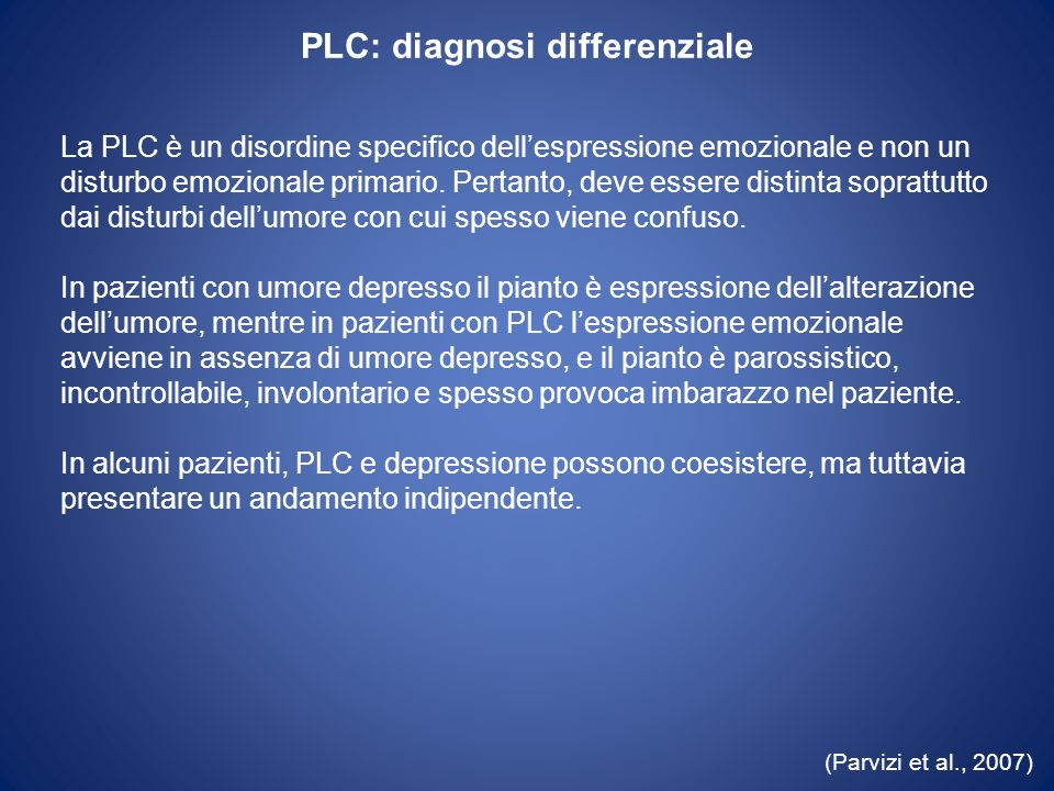PLC: diagnosi differenziale