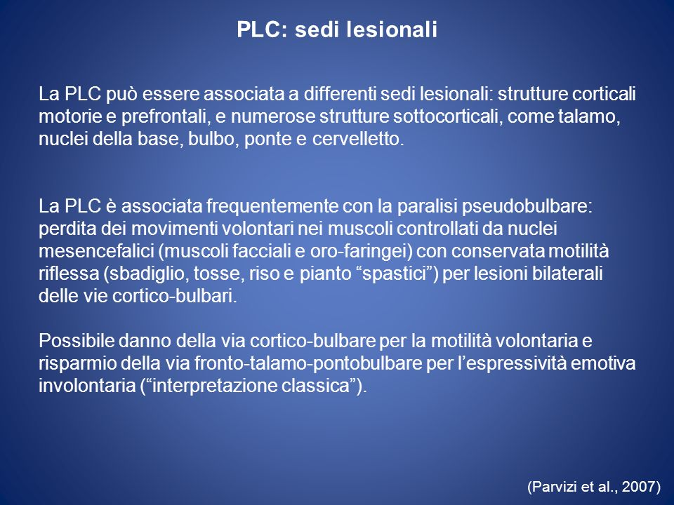 PLC: sedi lesionali