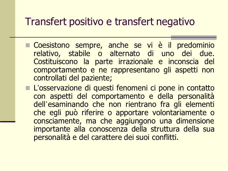 Transfert positivo e transfert negativo