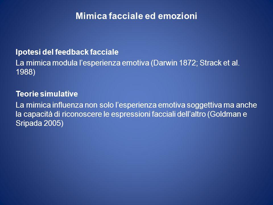 Mimica facciale ed emozioni