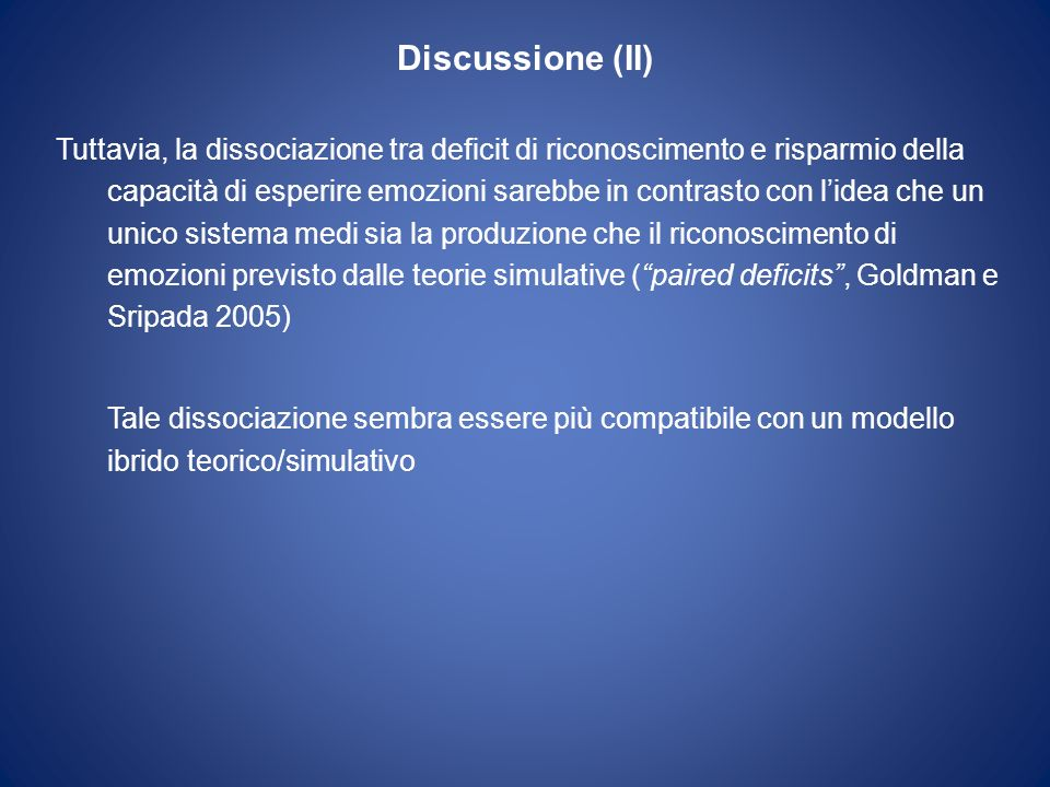 Discussione (II)