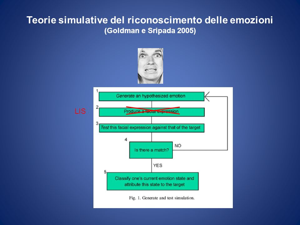 Teorie simulative del riconoscimento delle emozioni (Goldman e Sripada 2005)