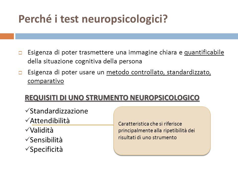 Perché i test neuropsicologici