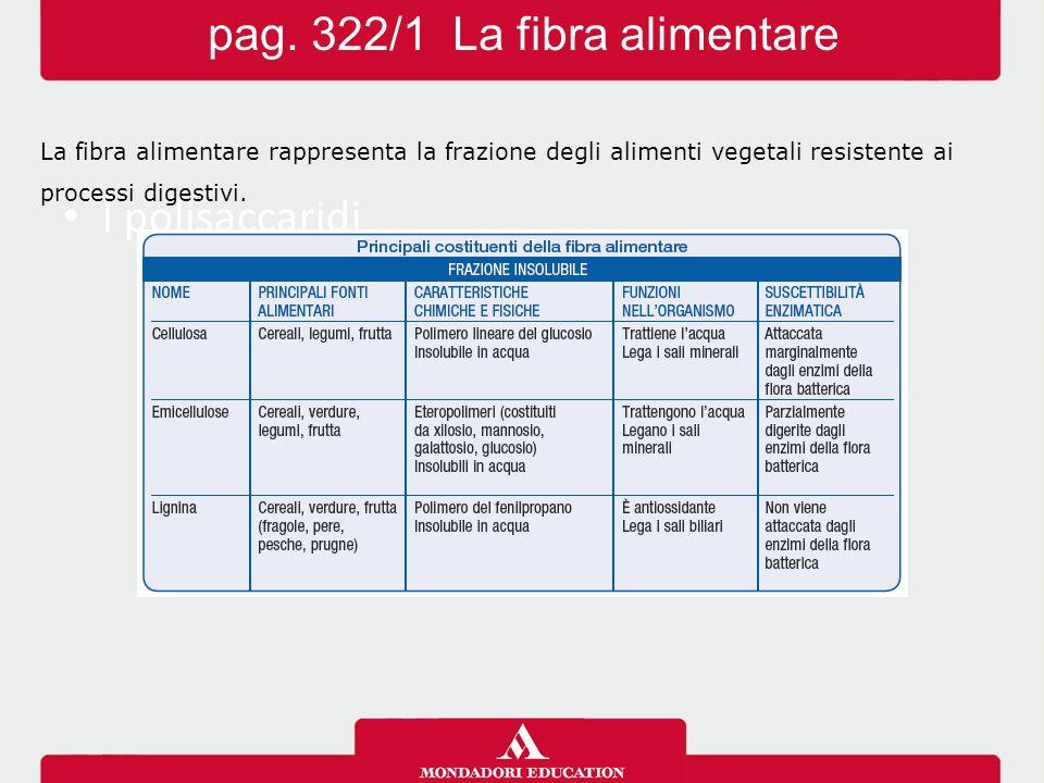 pag. 322/1 La fibra alimentare