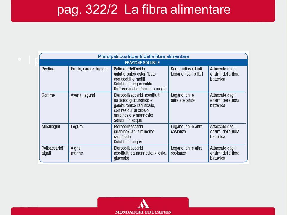 pag. 322/2 La fibra alimentare