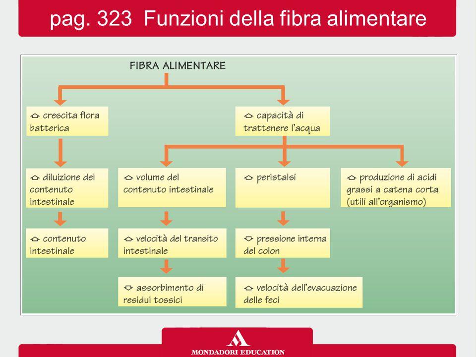 pag. 323 Funzioni della fibra alimentare
