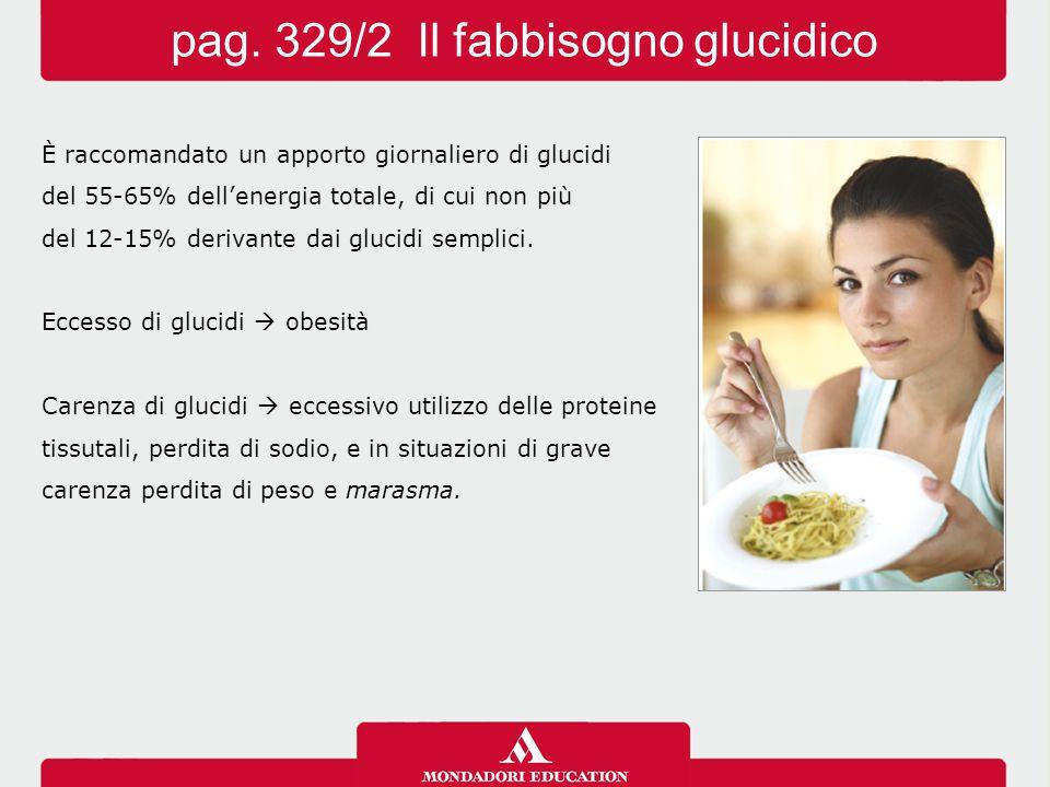 pag. 329/2 Il fabbisogno glucidico