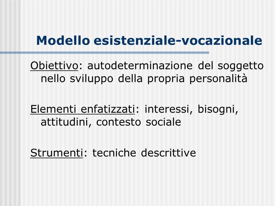 Modello esistenziale-vocazionale