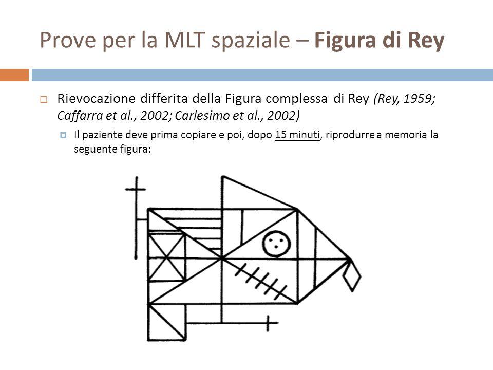 Prove per la MLT spaziale – Figura di Rey