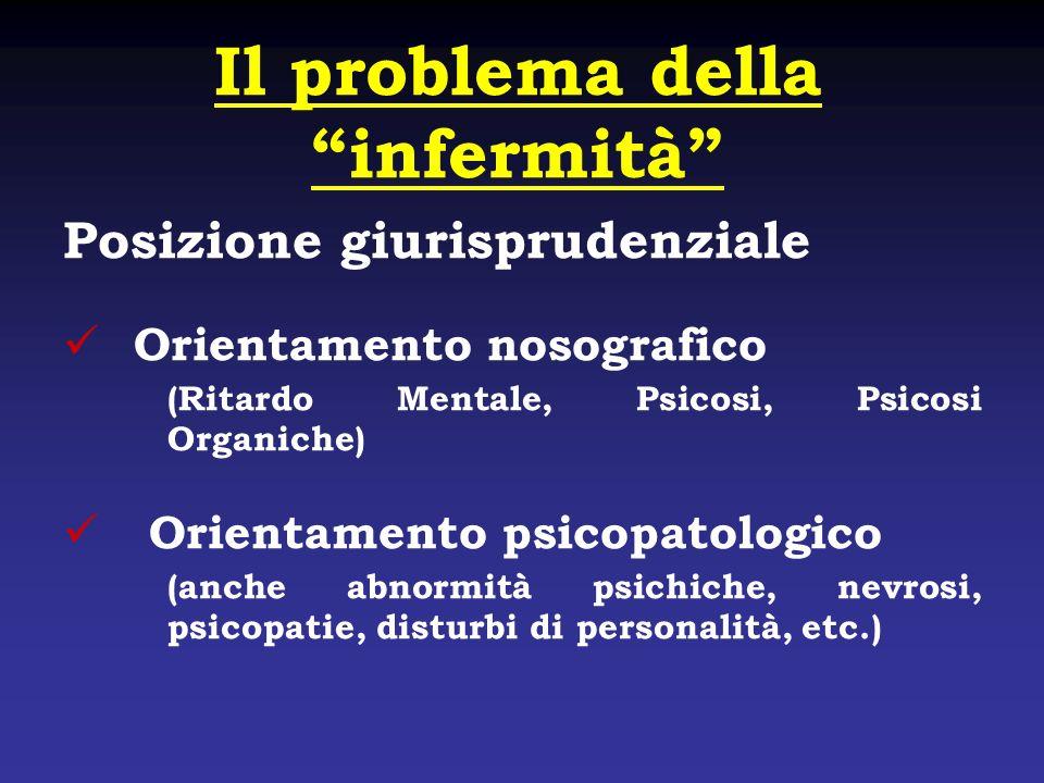 Il problema della infermità