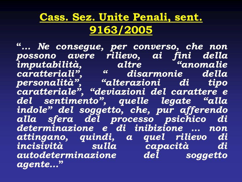 Cass. Sez. Unite Penali, sent. 9163/2005