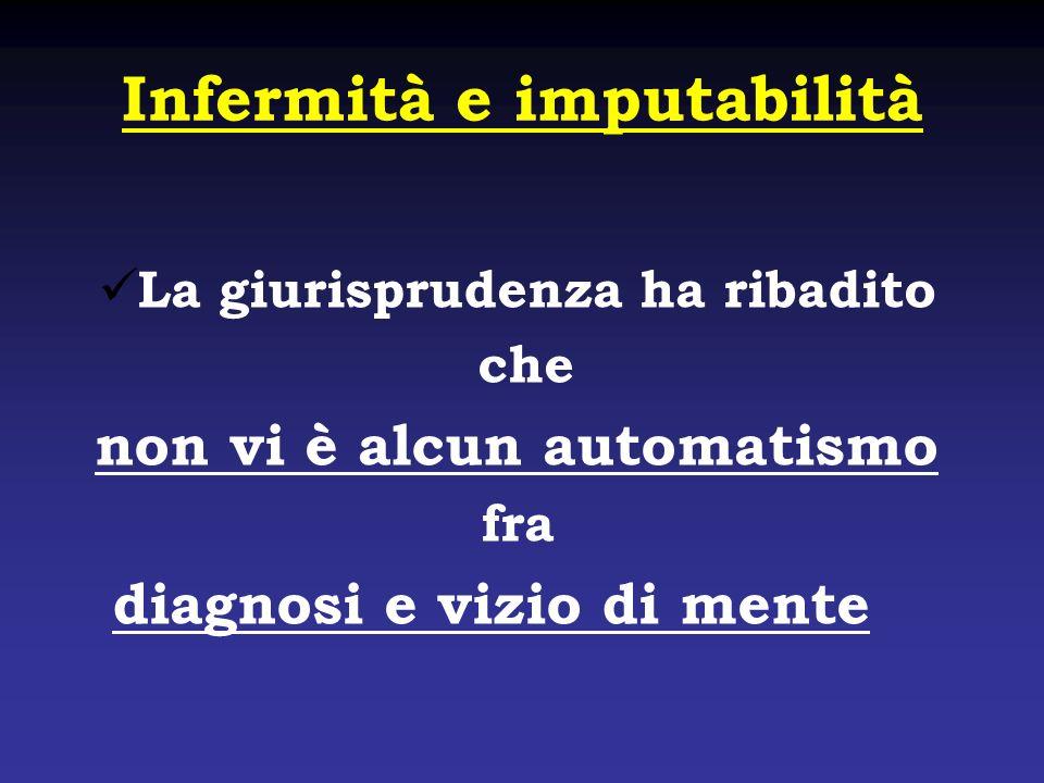 Infermità e imputabilità