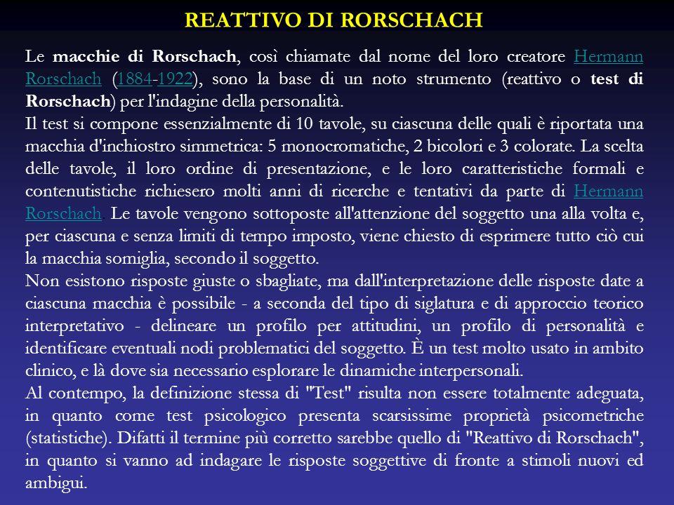 REATTIVO DI RORSCHACH
