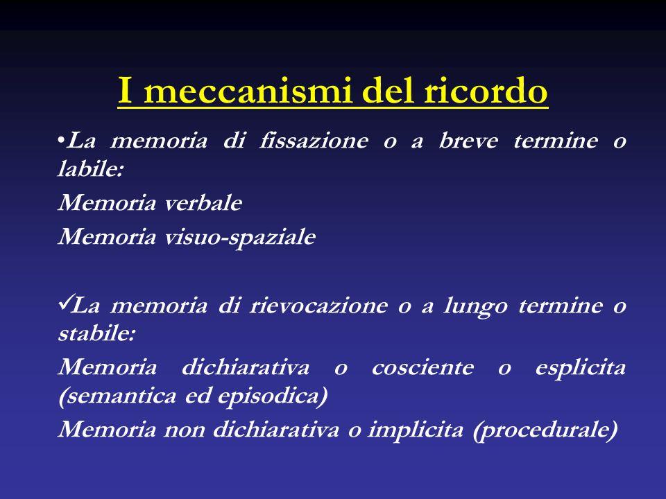 I meccanismi del ricordo