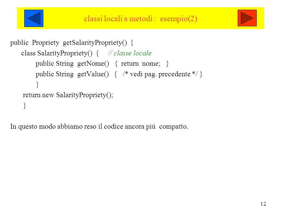 classi locali a metodi : esempio(2)