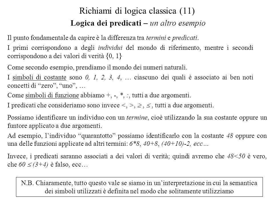 Richiami di logica classica (11)