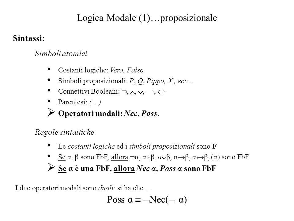 Logica Modale (1)…proposizionale