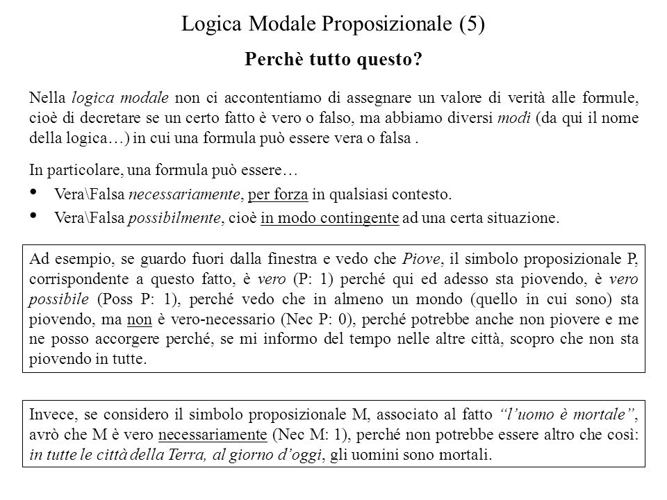 Logica Modale Proposizionale (5)