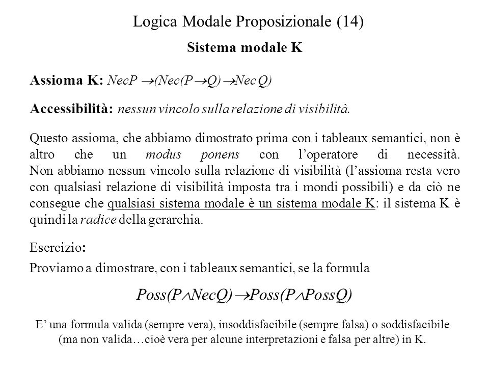 Logica Modale Proposizionale (14)