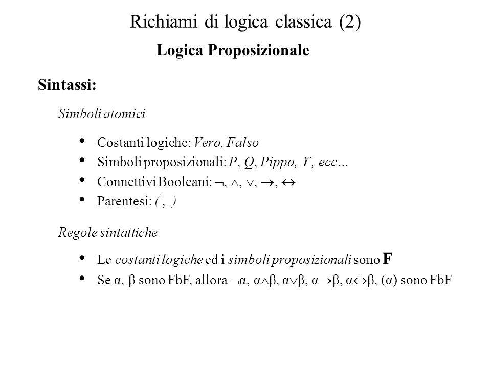 Richiami di logica classica (2)