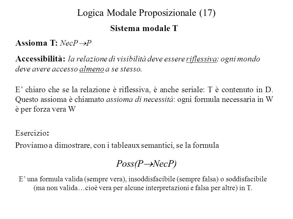 Logica Modale Proposizionale (17)