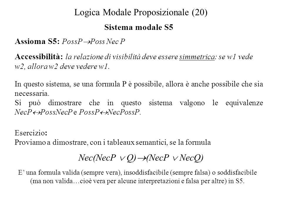 Logica Modale Proposizionale (20)