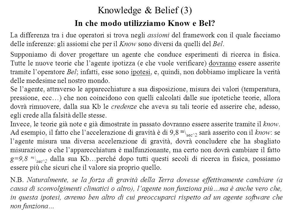 In che modo utilizziamo Know e Bel