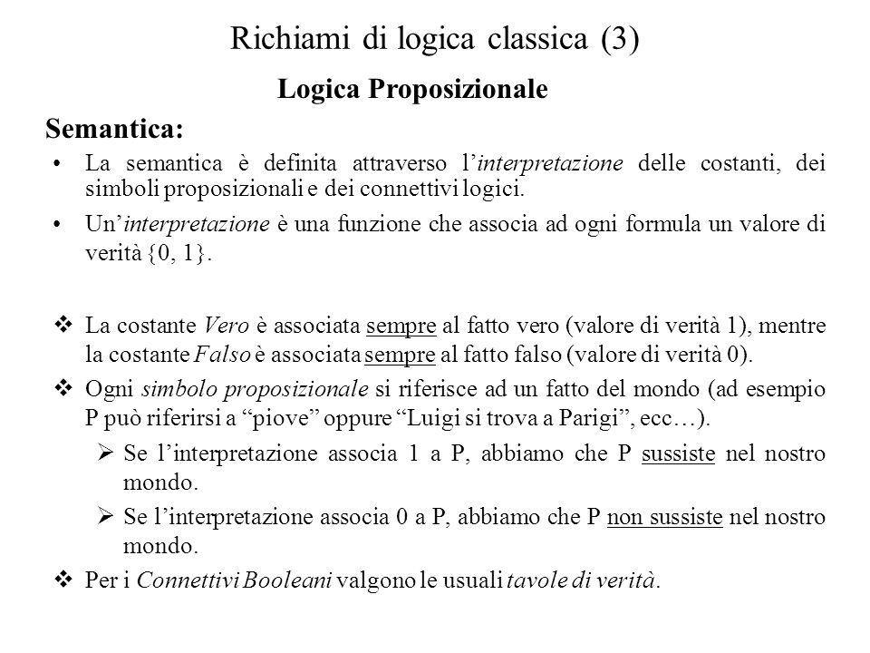 Richiami di logica classica (3)
