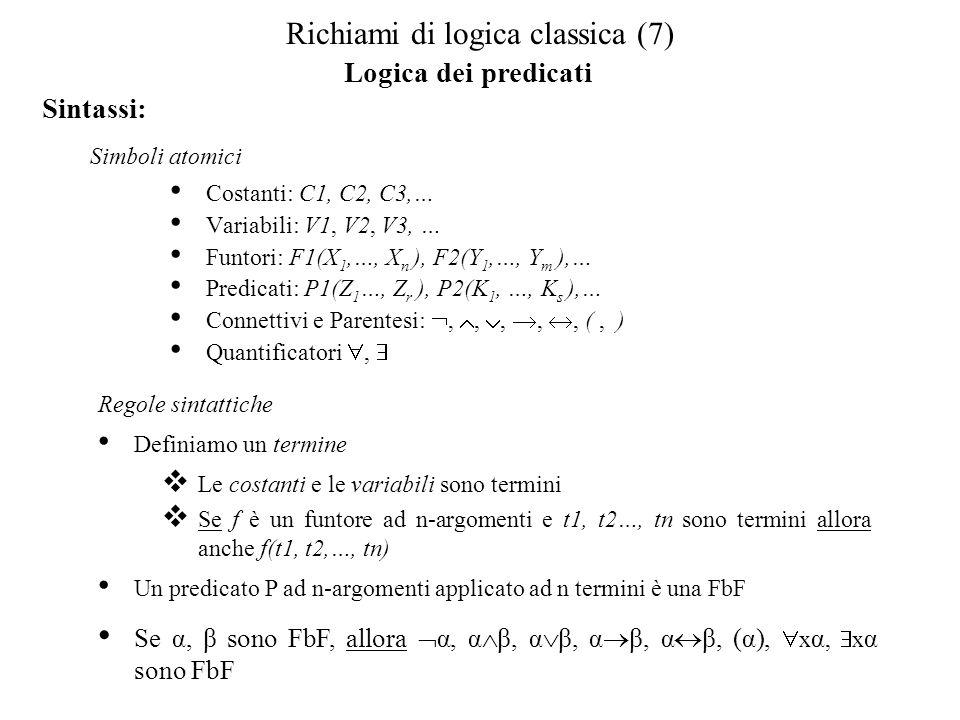 Richiami di logica classica (7)