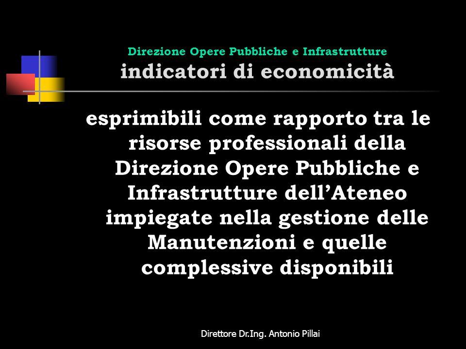 Direzione Opere Pubbliche e Infrastrutture indicatori di economicità