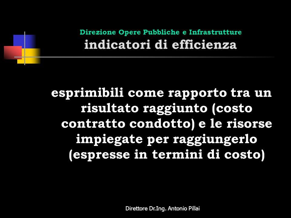 Direzione Opere Pubbliche e Infrastrutture indicatori di efficienza