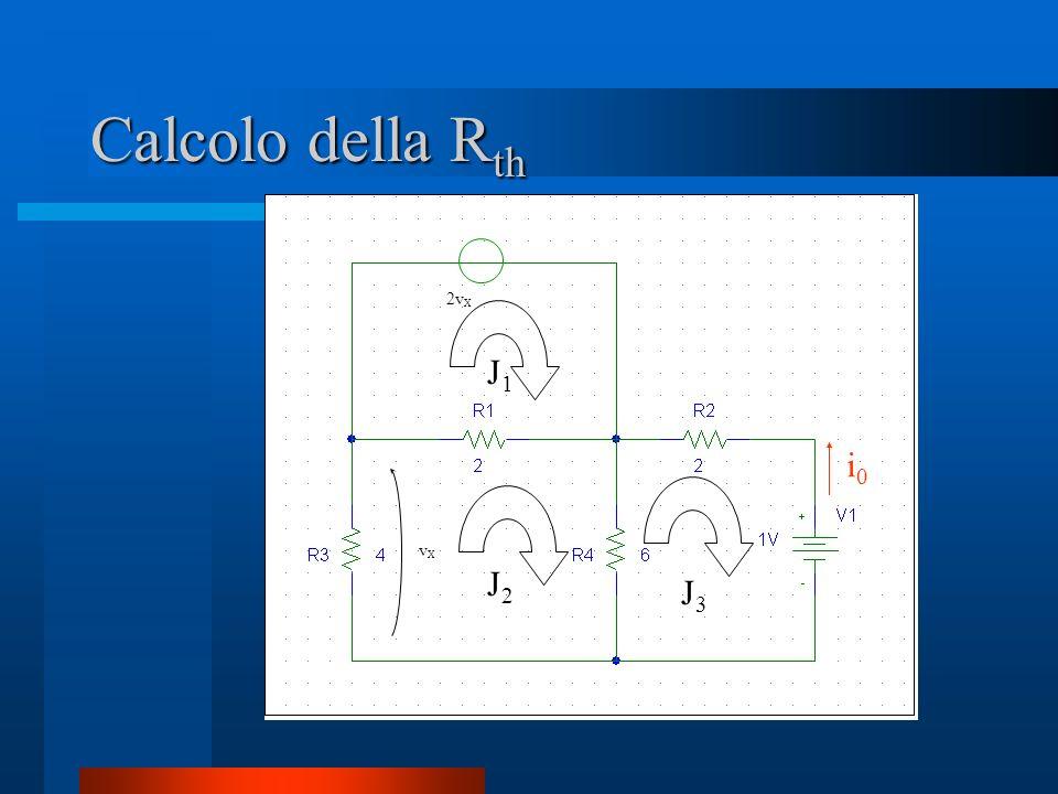 Calcolo della Rth vX 2vX J1 J2 J3 i0