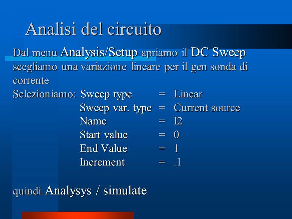 Analisi del circuito