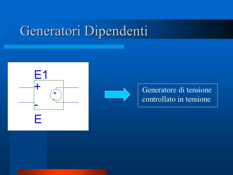 Generatori Dipendenti
