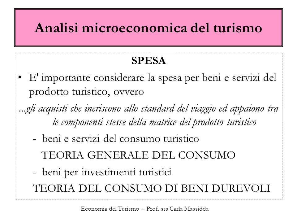 Analisi microeconomica del turismo