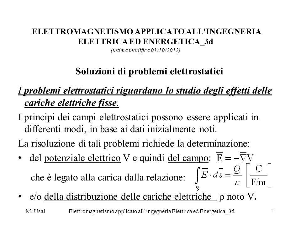 Soluzioni di problemi elettrostatici