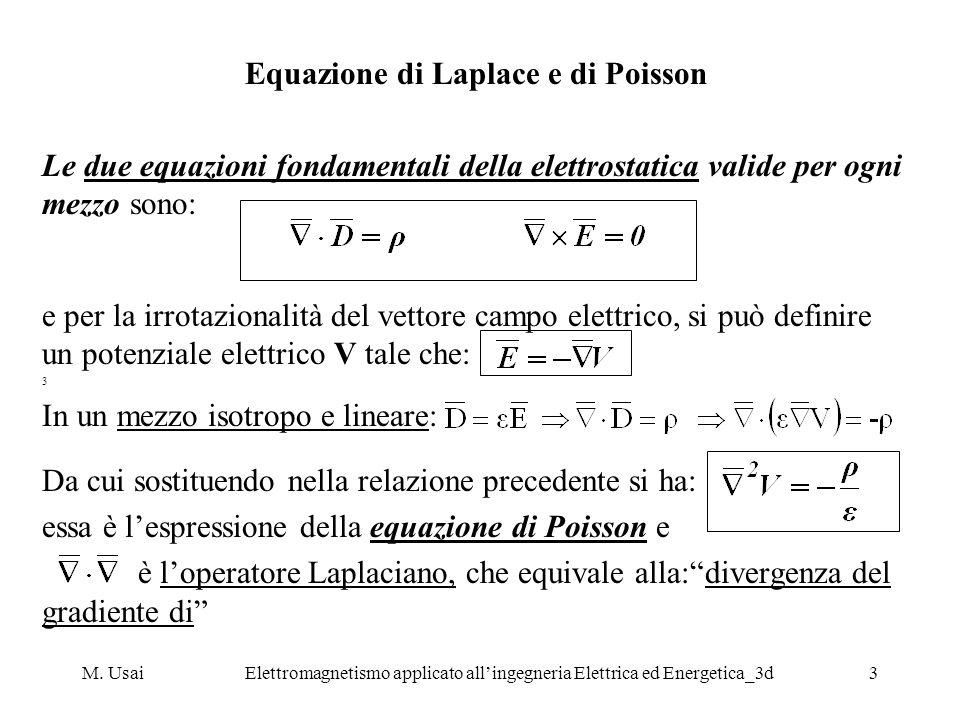 Equazione di Laplace e di Poisson