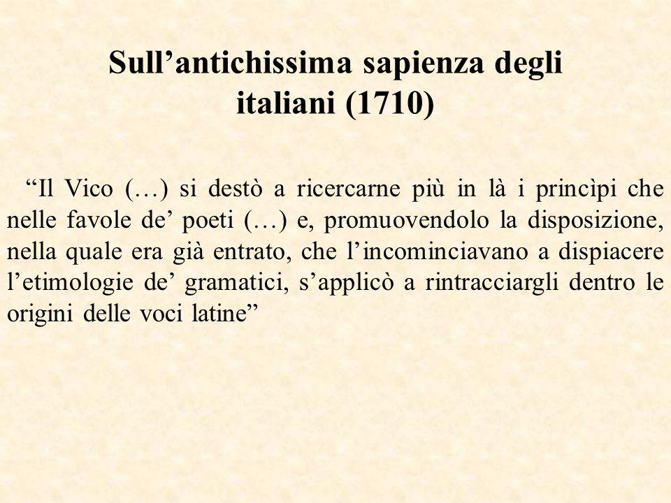 Sull'antichissima sapienza degli italiani (1710)