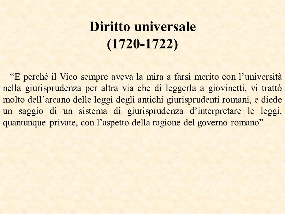 Diritto universale (1720-1722)