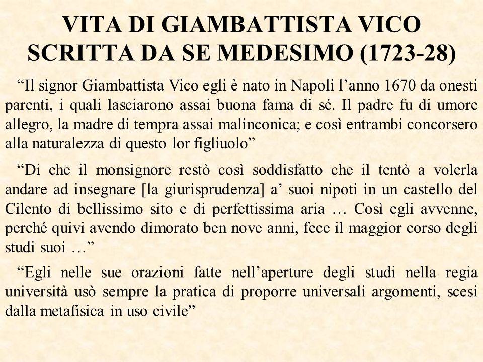 VITA DI GIAMBATTISTA VICO SCRITTA DA SE MEDESIMO (1723-28)