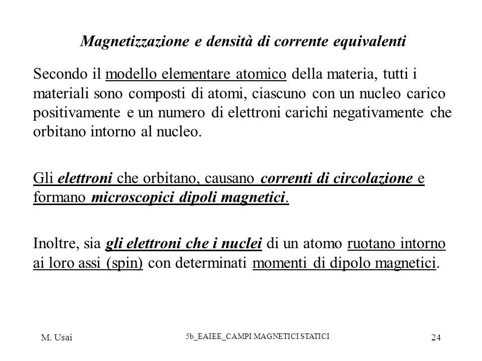 Magnetizzazione e densità di corrente equivalenti