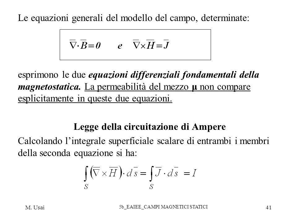 Le equazioni generali del modello del campo, determinate: